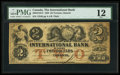 Canadian Currency: , Toronto, ON - The International Bank $2 Sep. 15, 1858 Ch. #380-10-10-12. ...
