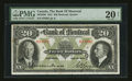 Canadian Currency: , Montreal, PQ- The Bank of Montreal $20 Jan. 2, 1931 Ch # 505-58-06....