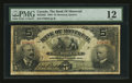 Canadian Currency: , Montreal, PQ- The Bank of Montreal $5 Jan. 2, 1904 Ch # 505-48-02....