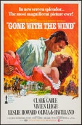 "Movie Posters:Academy Award Winners, Gone with the Wind (MGM, R-1968). One Sheet (27"" X 41"") Flat Fold. Academy Award Winners.. ..."