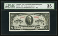 Canadian Currency: , Montreal, PQ - The Provincial Bank of Canada $10 Jan. 2, 1935 Ch. # 615-16-04. ...