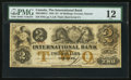 Canadian Currency: , Toronto, ON - The International Bank $2 Sep. 15, 1858 Ch. #380-10-12-12. ...