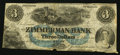 Canadian Currency: , Elgin, PC - The Zimmerman Bank $3 18__ Ch. # 815-12-08-04RRemainder. ...