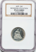 Proof Seated Quarters, 1879 25C PR63 Cameo NGC. Ex: Richmond Collection. NGC Census:(7/28). PCGS Population (7/23). ...