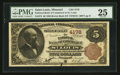 National Bank Notes:Missouri, Saint Louis, MO - $5 1882 Brown Back Fr. 474 The NB of Commerce Ch.# 4178. ...