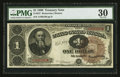 Large Size:Treasury Notes, Fr. 347 $1 1890 Treasury Note PMG Very Fine 30.. ...