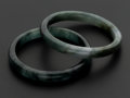 Estate Jewelry:Bracelets, Two Green Jade Bangle. ... (Total: 2 Items)