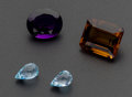 Estate Jewelry:Unmounted Gemstones, Four Unmounted Gemstones. ... (Total: 4 Items)