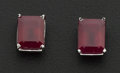 Estate Jewelry:Earrings, Large Ruby Earrings. ...