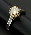 Estate Jewelry:Rings, Large Colored Diamond Ring, Approximately 3.75 ct.. ...