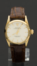 Timepieces:Wristwatch, Rolex Gold Ref. 6551 Mid-Size Oyster Perpetual, circa 1960's. ...