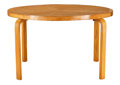 Furniture , AN ALVAR AALTO FINNISH LAMINATED BIRCH DINING TABLE . Circa 1930.29 x 48-1/2 inches (73.7 x 123.2 cm). ...