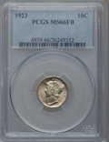 Mercury Dimes: , 1923 10C MS66 Full Bands PCGS. PCGS Population (166/64). NGCCensus: (98/29). Mintage: 50,130,000. Numismedia Wsl. Price fo...