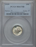 Mercury Dimes: , 1939 10C MS67 Full Bands PCGS. PCGS Population (98/6). NGC Census:(38/0). Mintage: 67,749,320. Numismedia Wsl. Price for p...