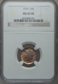 Mercury Dimes: , 1919 10C MS65 Full Bands NGC. NGC Census: (51/18). PCGS Population(131/66). Mintage: 35,740,000. Numismedia Wsl. Price for...