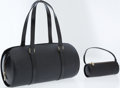 Luxury Accessories:Bags, Louis Vuitton Black Epi Leather Soufflot Shoulder Bag. ... (Total:2 Items)