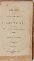 Books:Business & Economics, James Maitland Lauderdale. An Inquiry Into the Nature and Originof Public Wealth... Constable, 1804. First edit...