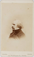 Books:Photography, [Nathaniel Hawthorne, subject]. Cabinet Photograph of Nathaniel Hawthorne. Boston: Black, [n.d., ca. 1860's]. Approximately ...
