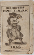 Books:Americana & American History, [Almanacs]. Rip Snorter Comic Almanac. New York, 1860.Original wrappers. Some foxing, soiling, wear. Good.. ...