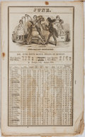 Books:Americana & American History, [Almanacs]. Old American Comic Almanac. New York, 1846.Second half of almanac only. Worn, foxed, soiled. Poor....