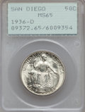 Commemorative Silver: , 1936-D 50C San Diego MS65 PCGS. PCGS Population (4006/834). NGCCensus: (1458/478). Mintage: 30,092. Numismedia Wsl. Price ...