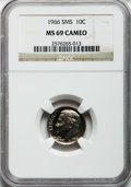 SMS Roosevelt Dimes: , 1966 10C SMS MS69 Cameo NGC. NGC Census: (8/0). ...