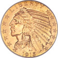 Indian Half Eagles, 1915 $5 MS65 PCGS....