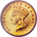 Proof Gold Dollars, 1886 G$1 PR66 Cameo PCGS. CAC....