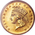 Proof Gold Dollars, 1871 G$1 PR65 Cameo PCGS Secure. CAC....