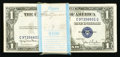 Small Size:Silver Certificates, Fr. 1613N/W $1 1935D Silver Certificates. Original Pack of 100 Narrow and Wide Notes. . ... (Total: 100 notes)
