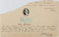 Books:Art & Architecture, John Ruskin (1819-1900, British Writer and Art Critic). Clipped Signature. [N.p., n.d.]. Approximately 1 x 2 inches. Mounted...