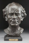 Sculpture, A PATINATED BRONZE BUST AFTER AUGUSTE RODIN (French, 1840-1917): GUSTAV MAHLER . 20th century. Marks: A Rodin 19...