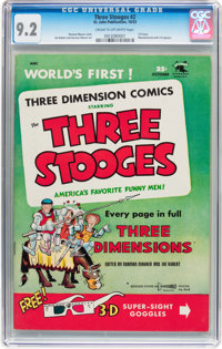 Three Stooges #2 (St. John, 1953) CGC NM- 9.2 Cream to off-white pages