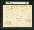 Canadian Currency: , Quebec, (LC)- French Regime Third Bill of Exchange 800 Livres Oct.2, 1758 Charlton UNL. ...