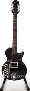 Musical Instruments:Electric Guitars, 2009 Epiphone Tito's Vodka Les Paul Junior Black solid BodyElectric Guitar, Serial # 0910102229....