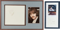 """Ringo Starr Signed The Beatles [""""The White Album""""] Album Cover and George Martin Autograph.<"""