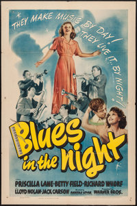 "Blues in the Night (Warner Brothers, 1941). One Sheet (27"" X 41""). Musical"