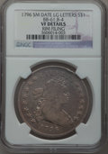 Early Dollars, 1796 $1 Small Date, Large Letters -- Rim Filing -- NGC Details. VF.B-4, BB-61, R.3....