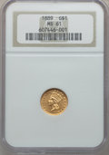 Gold Dollars: , 1889 G$1 MS61 NGC. NGC Census: (69/1703). PCGS Population(74/2172). Mintage: 29,000. Numismedia Wsl. Price for problemfre...