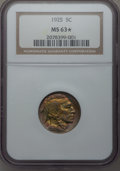 Buffalo Nickels: , 1925 5C MS63 ★ NGC. NGC Census: (117/685). PCGS Population(158/1287). Mintage: 35,565,100. N...