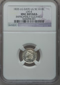 Bust Half Dimes, 1835 H10C Large Date, Large 5C -- Improperly Cleaned -- NGCDetails. Unc. LM-4. NGC Census: (1/520). PCGS Population (11/31...