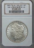 Morgan Dollars: , 1880/79-CC $1 Reverse of 1878 MS64 NGC. Vam-4, Top-100. NGC Census:(603/250). PCGS Population (1129/538). Mintage: 591,000...