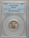 Barber Dimes: , 1916 10C MS65 PCGS. PCGS Population (106/45). NGC Census: (143/42).Mintage: 18,490,000. Numismedia Wsl. Price for problem ...