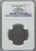 Large Cents, 1802 1C No Stems -- Obverse Scratched -- NGC Details. VF. S-231.NGC Census: (25/223). PCGS Population (36/282). Mintage: 3...