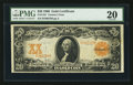 Large Size:Gold Certificates, Fr. 1181 $20 1906 Gold Certificate PMG Very Fine 20.. ...