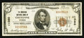 National Bank Notes:Wyoming, Cheyenne, WY - $5 1929 Ty. 1 The American NB Ch. # 11380. ...