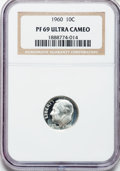 Proof Roosevelt Dimes: , 1960 10C PR69 Ultra Cameo NGC. NGC Census: (0/0). PCGS Population(121/0). Numismedia Wsl. Price for problem free NGC/PCGS...