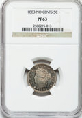 Proof Liberty Nickels: , 1883 5C No Cents PR63 NGC. NGC Census: (64/638). PCGS Population(136/743). Mintage: 5,219. Numismedia Wsl. Price for probl...
