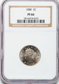 Proof Liberty Nickels: , 1888 5C PR66 NGC. NGC Census: (85/13). PCGS Population (70/6).Mintage: 4,582. Numismedia Wsl. Price for problem free NGC/P...