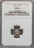 Bust Half Dimes: , 1829 H10C MS62 NGC. NGC Census: (99/288). PCGS Population (70/204).Mintage: 1,230,000. Numismedia Wsl. Price for problem f...